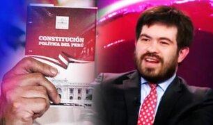 """Ghersi: """"La Asamblea Constituyente es una amenaza para el estado de derecho en todo el Perú"""""""