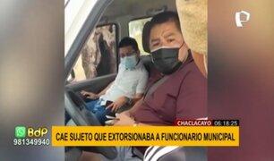 Chaclacayo: detienen a sujetos que extorsionaban a funcionario municipal
