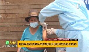 SJL: brigadas acuden a puntos más altos para vacunar a vecinos en sus propias casas
