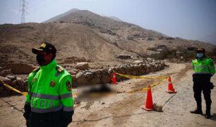 Cieneguilla: cuerpo encontrado mutilado y carbonizado sería de un taxista desaparecido