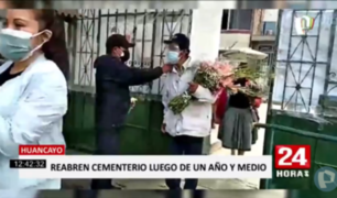 Huancayo: cementerio general reabrió tras un año y medio