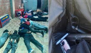 Intervienen a 17 extranjeros fuertemente armados al interior de un hotel en Puno