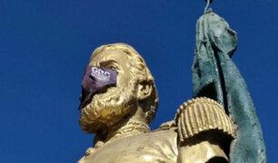 Cajamarca: colocan mascarillas a estatuas  para sensibilizar sobre la importancia de su uso