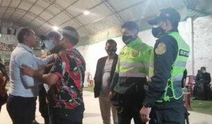 Fiesta Covid-19: infractores se enfrentan a policías y serenos para evitar operativo
