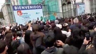 Desmanes en Feria del libro Lima Lee dejó 8 heridos