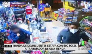 Lince: banda de falsificadores estafó a un minimarket con 600 soles falsos
