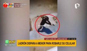 SJL: ladrón disparó a menor para robarle su celular