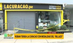 San Isidro: roban tienda La Curacao bajo la modalidad del 'billazo'