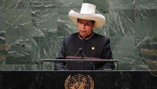"""Castillo ante la ONU: """"Vamos a transitar por el manejo responsable del marco macroeconómico"""""""