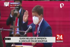 Premier Guido Bellido se enfrentó a canciller Óscar Maúrtua