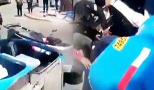 Dos personas heridas tras volcar mototaxi en Tacna