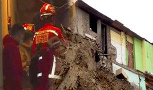 Chorrillos: dos adultas mayores quedaron atrapadas por colapso de pared