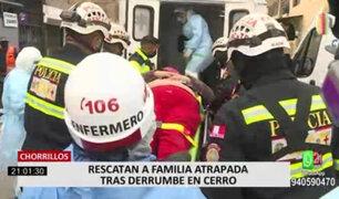 Chorrillos: adultas mayores en estado crítico tras deslizamiento en cerro