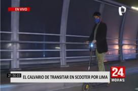 El peligro de transitar en scooter por las calles de Lima