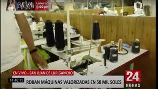 SJL: roban máquinas valorizadas en S/50 000 de un taller de confección