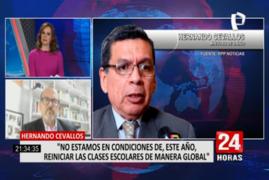 """Víctor Zamora: """"Las escuelas no son lugares de contagio"""""""