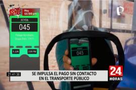 Impulsan pago sin contacto en el transporte público en Lima