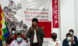 Arequipa: Evo Morales participó en evento de Perú Libre sobre Asamblea Constituyente
