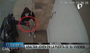 Bellavista: delincuentes roban celular a joven en la puerta de su casa