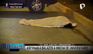 SJL: asesinan a balazos a barrista de Universitario de Deportes