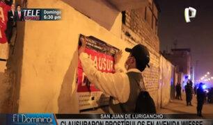 SJL: municipio interviene y clausura locales donde se ejercía la prostitución clandestina