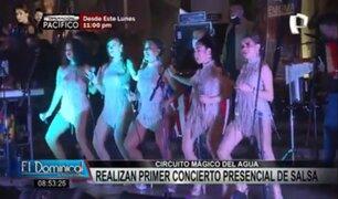 Circuito Mágico del Agua: así fue el primer concierto presencial de salsa
