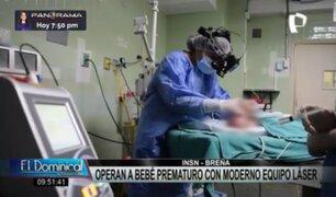 Proeza médica: bebé prematuro recupera visión tras operación con moderno equipo láser