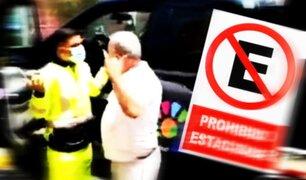 En vía restringida: infractores se ponen violentos y no respetan el reglamento de tránsito
