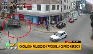 Choque en Surco: piden colocar señalización tras violento accidente de tránsito