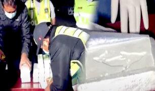 Hallan más de 20 kilos de droga camuflada en tablero de auto en Andahuaylas