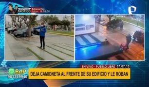 Pueblo Libre: amenazan a conductor y le roban camioneta en puerta de edificio