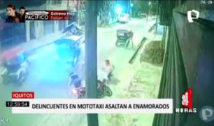 Iquitos: captan asalto a pareja a metros de su casa