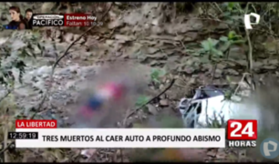 La Libertad: tres muertos deja despiste de auto en Pataz
