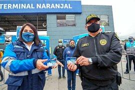 ATU entregó tarjetas de pase libre a agentes del Grupo Terna para que brinden seguridad en estaciones