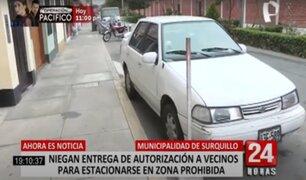 Surquillo:  alcalde niega entrega de autorización a vecinos para estacionarse en zonas prohibidas