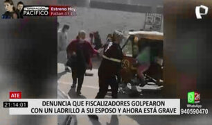 Ate: denuncian a fiscalizadores de golpear brutalmente a mototaxista para quitarle su vehículo
