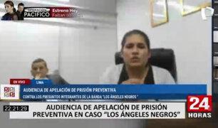 """""""Los Ángeles Negros del Almenara"""" lloraron en audiencia de apelación de prisión preventiva"""