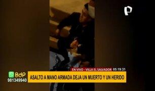 VES: asalto a mano armada deja un muerto y un herido