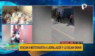 Mototaxista grave tras ser golpeado en la cabeza durante operativo en Ate