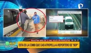 Reportero de BDP casi es atropellado por combi durante transmisión en vivo