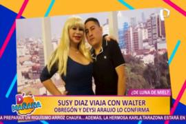 Las picantitas del Espectáculo: Susy Díaz viajó a Cancún con Walter Obregón