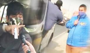 Reportero de BDP ubica a chofer que casi lo atropelló en plena transmisión