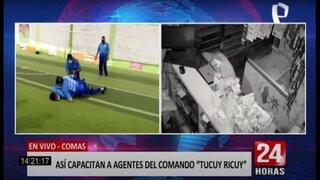"""Conoce cómo se capacitan los nuevos integrantes del comando """"Tucuy Ricuy"""""""