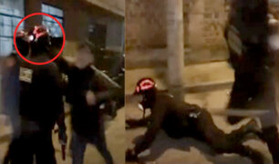 Sujeto que agredió a policía durante intervención señaló que lo hizo en defensa de su hermano