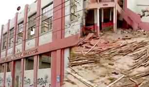 Denuncian colegio emblemático de El Callao en ruinas y es guarida de drogadictos