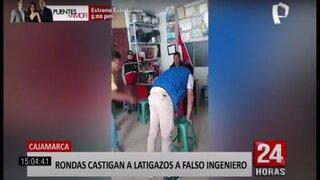 Cajamarca: ronderos castigan a latigazos a estafador
