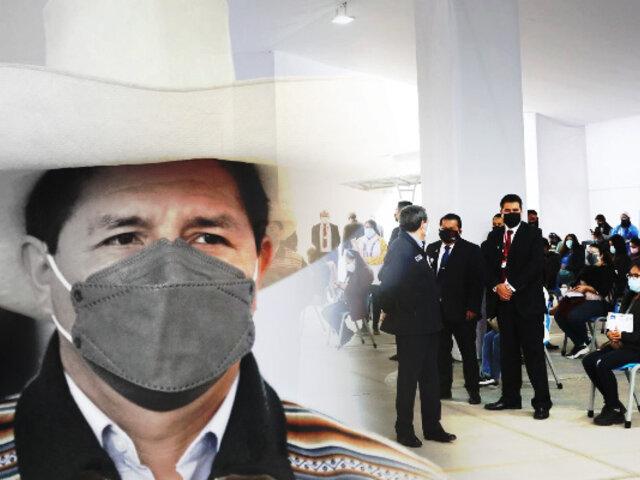 Covid-19: presidente Castillo garantiza vacuna para los docentes en cada rincón del país