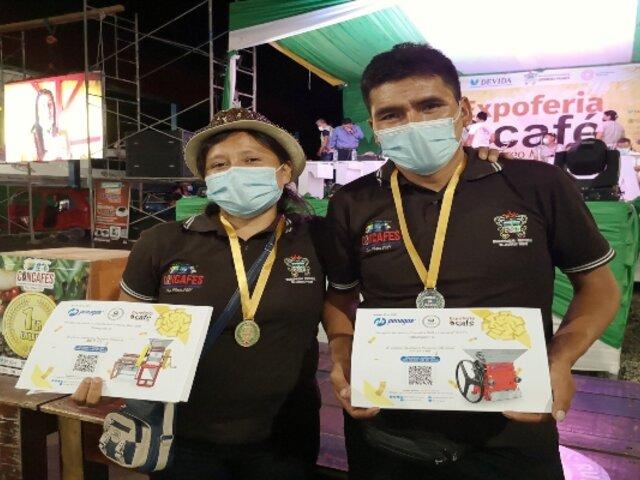 Pareja de esposos gana concurso de cafés de especialidad en Huánuco