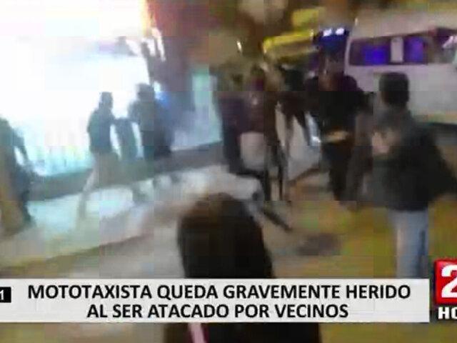Ate: tres mototaxistas quedaron heridos tras ser atacados por vecinos
