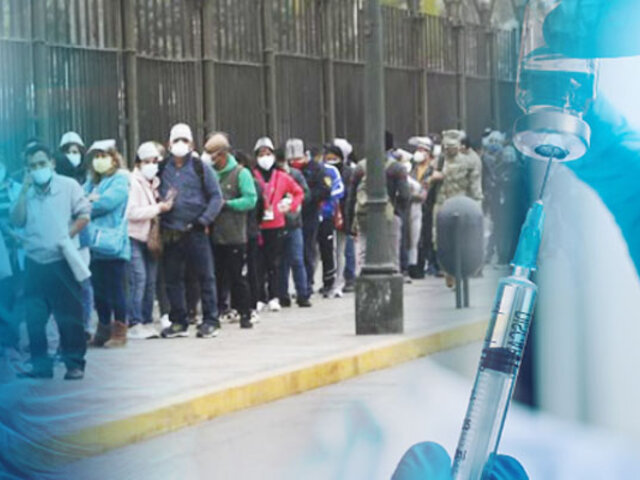 Sétima vacunatón: cientos de personas hacen fila en el Parque de la Exposición para inocularse